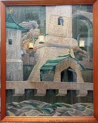Embroidery Needlepoint Tapestry American Art Deco 1925 Paris Marian Stoll