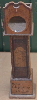 Nice Looking Miniature Longcase Clock Case Pocket Watch Stand Dated 1887