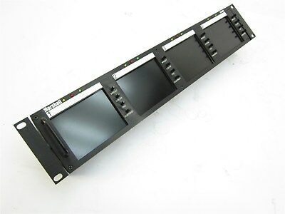 "Marshall V-R44P Rack Mount Quad 4"" LCD Monitor Screen Panel"