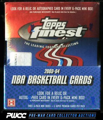 2003 Topps Finest Basketball Factory Sealed Hobby Box, LeBron James RC? (PWCC)