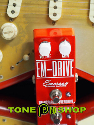 Emerson Custom Limited Edition RED EM-DRIVE TRANSPARENT OVERDRIVE 99c Auction!