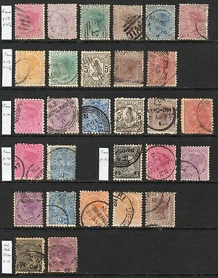 NEW ZEALAND 1882-1900 Second SFQ collection U, SG 187//272 cat £315