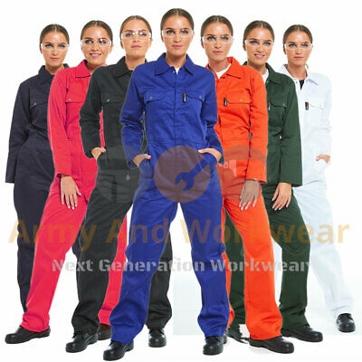 Ladies Heavy Duty BoilerSuit Workwear Coverall Overall Womens FREE SAFETY SPECS