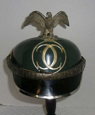 Pre WW II Romania Officer Dress Border Guard Helmet No Shako Spike Hat Cap