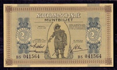 2 1/2 Gulden From Netherland Indies Colony From The Netherlands 1940 Unc