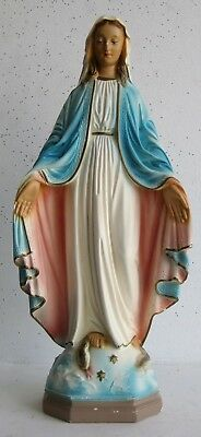 Vtg Catholic Italian Chalkware  Virgin Mary Queen of Heaven Our Lady Statue
