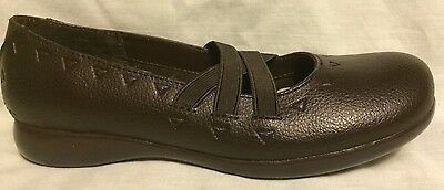 Nina Girls Brown LEATHER  Slip-On Back to School Shoes Youth Girls Size 6