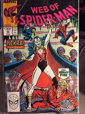 Web of Spider-Man #46 May 1987 Marvel - NM! Blacksuit