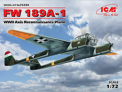ICM 72294 WWII Axis Reconnaissance Plane Fw189A-1 in 1:72