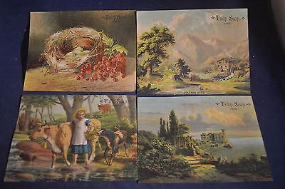 Ca 1890 Four Different Tulip Soap Victorian Cards
