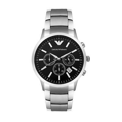 Emporio Armani Men's AR2434 Classic Stainless Steel Black Dial Watch