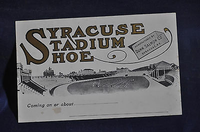 Syracues Stadium Shoe, Manufactured by Dunn, Salmon Postcard