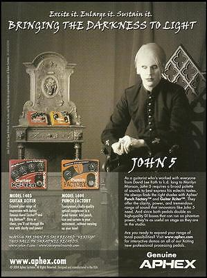 John 5 Aphex guitar effects processing pedal ad 8 x 11 advertisement