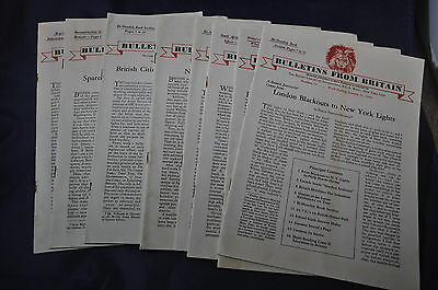 1942 Bulletins from Britain - Eight Different +1 End 1941