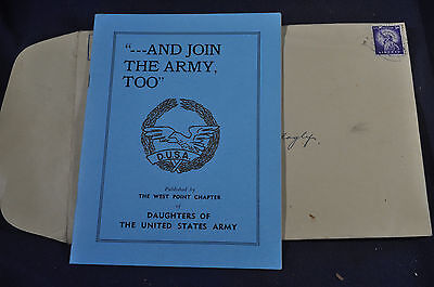 1956 Daughters of the United States Army Brochure and Envelope West Point