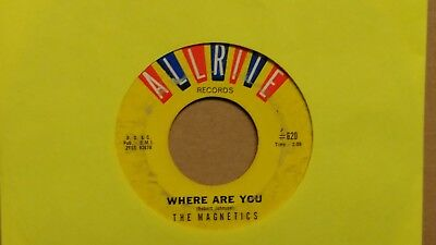 45 RPM Magnetics ALLRITE Where Are You / The Train DOO WOP SOUL  VG