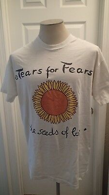 Vintage 1990 Tears For Fears T Shirt Seeds Of Love XL
