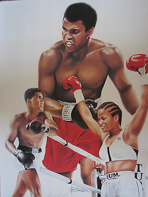 Great Boxer's, Muhammad Ali & His Daughter Laila Ali  Awesome Lithograph