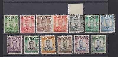 SOUTHERN RHODESIA 42-54 1937 Geo VI MH set complete