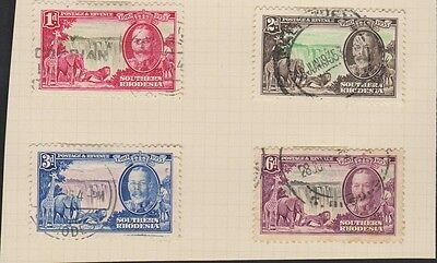 SOUTHERN RHODESIA 33-36 1935 Silver Jubilee used