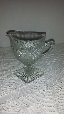 Miss America Clear Creamer  Depression Glass
