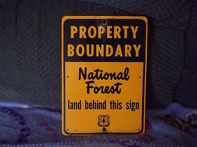 United States Forest Service Dept. Agriculture Property Boundary National Forest