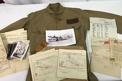 WWII US Navy PB4Y-1 Named Pilots Flight Suit Grouping - B-24 Liberator Aircraft