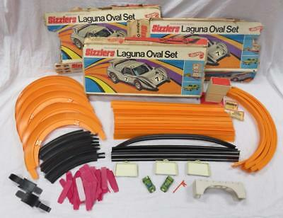 Vtg 1969 Set of (3) Laguna Oval Sets Sizzler Hot Wheels- Tracks and Accessories