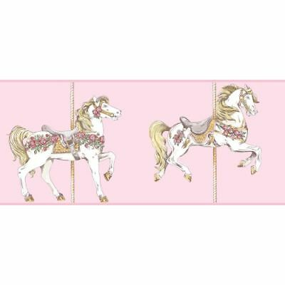 York Wallcoverings YS9138BD Pink / White / Deep Pink / Medium Green / Gold