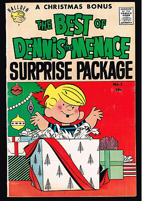 First Printing The BEST of DENNIS THE MENACE GIANT 2 Christmas - High Mid Grade