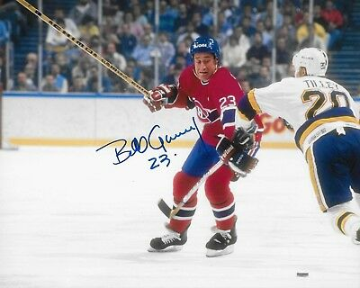 Bob Gainey signed Montreal Canadiens 8X10 Photo *HOF*