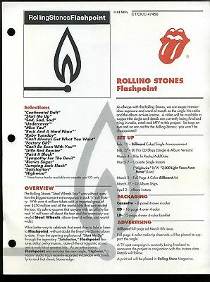 Rolling Stones - Flashpoint  RARE retail pre-release one-sheet