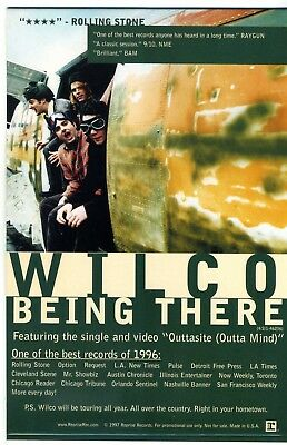 "Wilco - Being There - RARE Retail-Promo Counter Stand-Up ""tent card"" 1997"
