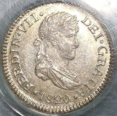 1820 PCGS MS 64 GUATEMALA Silver 1/2 Real BU SPAIN Colony Coin OGH (16052603D)
