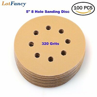 5in 320 Grit Sanding Discs Random Orbital Sander Sheet Round Pad Hook and Loop