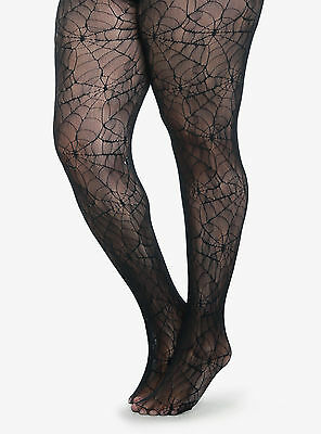 Halloween Plus Size Spider Web Fishnet Tights In  1X/2X 3X/4X By Collant Couture