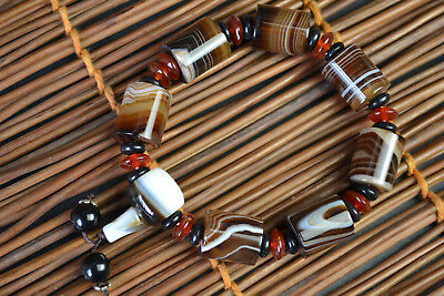 Vintage Culture Collectible Old Natural Agate Exquisite Agate Nice Bracelet