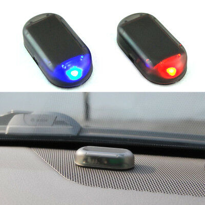 Car Solar Power LED Fake Dummy Alarm Warning Security Anti-Theft Flashing Light