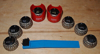 LOT of 8 Assorted IBM SELECTRIC Typewriter FONT BALLS / ELEMENT HEADS