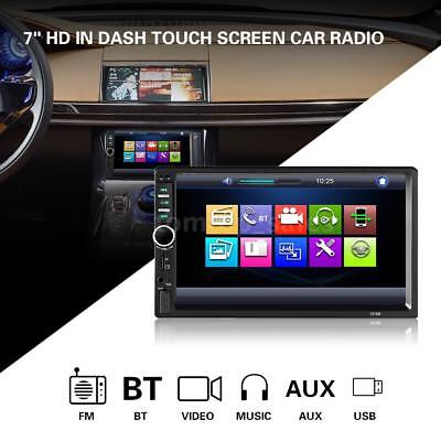 """DOUBLE DIN Car Radio BT Audio 7"""" HD Touch Screen Stereo USB MP3 MP5 Player C9U4"""