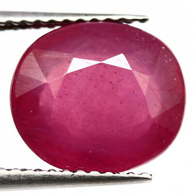 5.48 Ct Natural! Pink Ruby Glass Filled Oval Madagascar Supreme