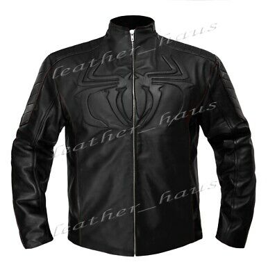 The Amazing Spider Man Stylish Genuine Leather Biker Bomber Costume Jacket #523