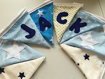 Personalised, Hand Made, Childrens or Occasion Bunting.