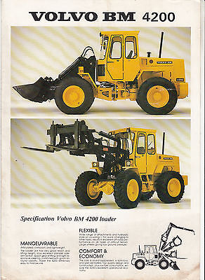Volvo BM 4200 loader brochure