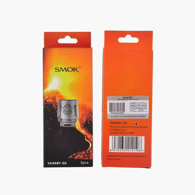5 Pack Authentic SMOK TFV8 Baby / Big Baby Beast Coils V8 / Q2 / X4 / T8 (USA)