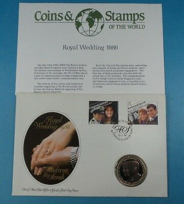1986 First Day Cover Isle Of Man Crown Coin Royal Wedding  Collection