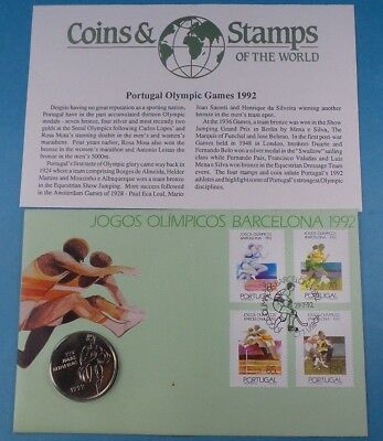 1992 First Day Cover Portugal 200 Escudo Coin Olympic Games 1992 Collection