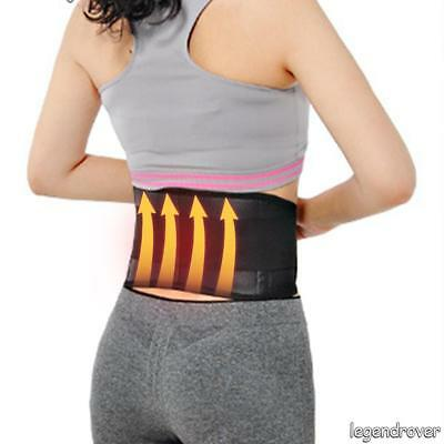 Magnetic Heat Waist Belt Brace Lower Back Therapy Support Pain Relief DSUK