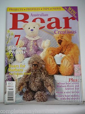 Australian Bear Creations Vol. 11  No 3 - Bears for Barbara, Knit a vest for Ted