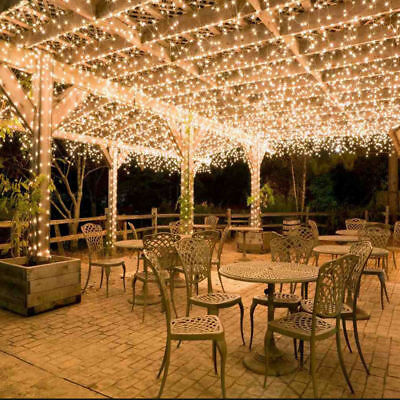 100M 500LED Warm White Waterproof Christmas Fairy String Light Wedding Garden AU